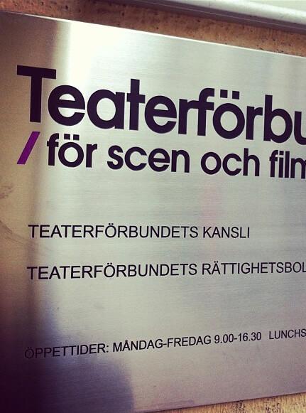 Teaterförbundet skylt