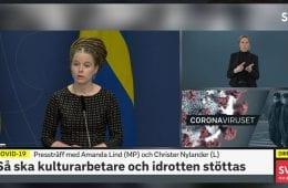 Presskonferens med kulturminister Amanda Lind